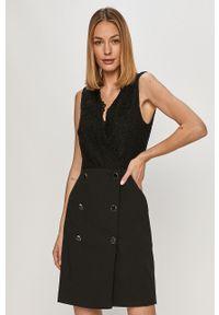 Czarna sukienka Morgan na spotkanie biznesowe, bez rękawów