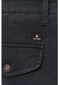 Jack & Jones - Spodnie. Okazja: na co dzień. Kolor: niebieski. Materiał: tkanina, elastan, bawełna. Wzór: gładki. Styl: casual #3