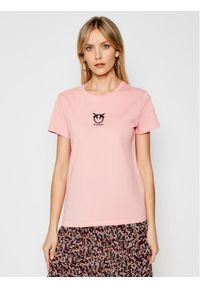 Różowy t-shirt Pinko