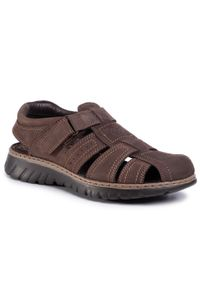 Brązowe sandały Lasocki For Men na lato, klasyczne