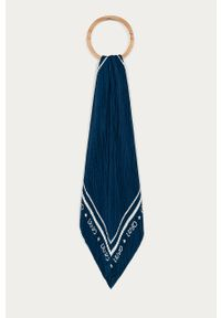 Niebieska chusta Liu Jo z nadrukiem