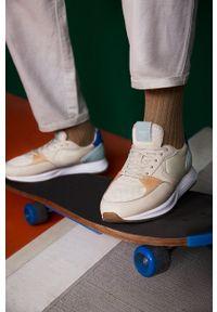 HOFF - Hoff - Buty PLAKA. Nosek buta: okrągły. Zapięcie: sznurówki. Kolor: beżowy. Materiał: guma