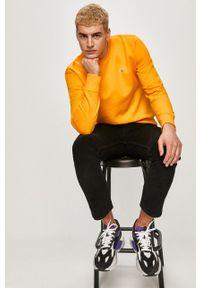 Pomarańczowa bluza nierozpinana Tommy Jeans bez kaptura, z aplikacjami, na co dzień, casualowa