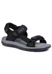 Czarne sandały Lanetti na lato, klasyczne