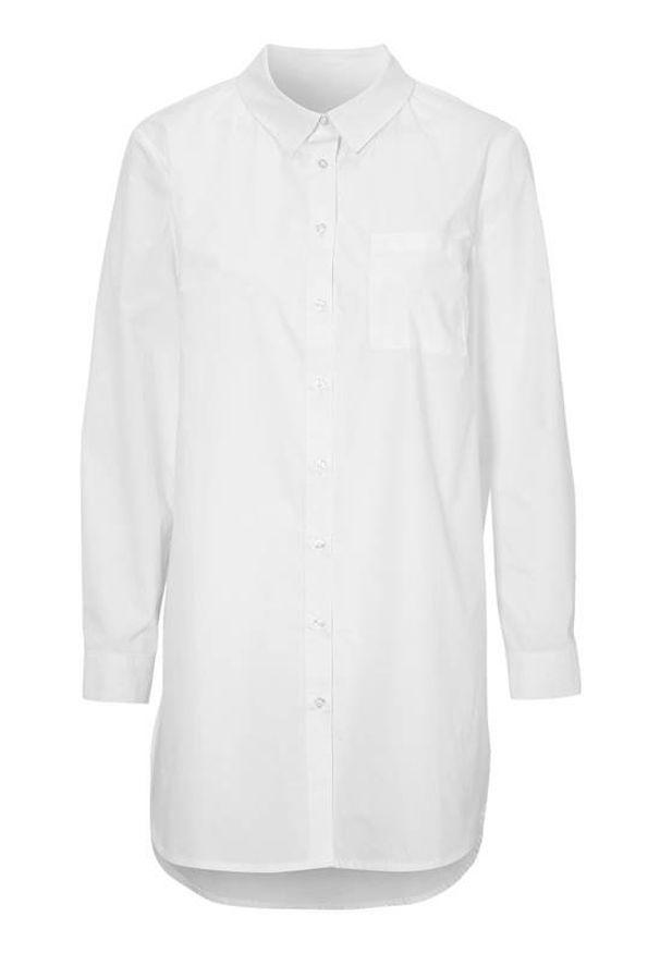 Cellbes Długa koszula biały female biały 38/40. Okazja: na co dzień. Kolor: biały. Materiał: tkanina. Długość rękawa: długi rękaw. Długość: długie. Styl: elegancki, casual