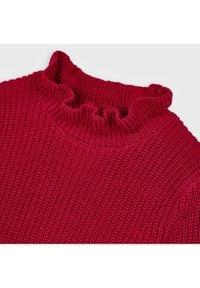 Mayoral Sweter 4343 Bordowy Regular Fit. Kolor: czerwony