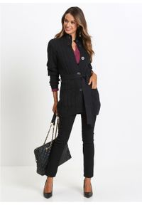 Czarny sweter bonprix z długim rękawem, długi