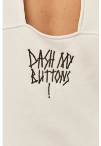 Dash My Buttons - Bluza Hard Candy. Typ kołnierza: kaptur. Kolor: biały. Wzór: nadruk