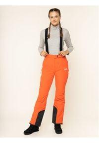 Pomarańczowe spodnie sportowe Jack Wolfskin narciarskie
