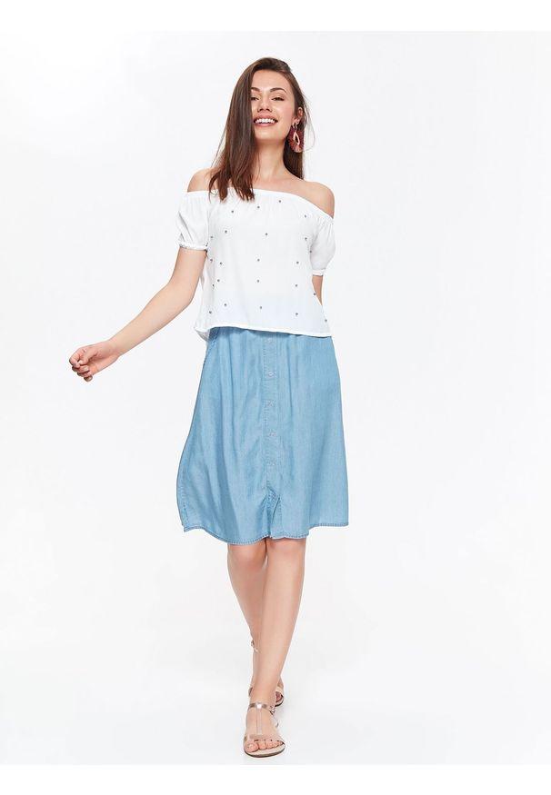 Biała bluzka TROLL elegancka, krótka