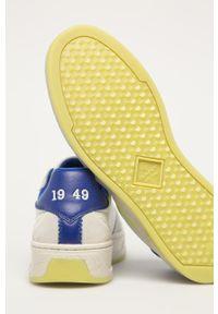 Szare sneakersy GANT z okrągłym noskiem, na sznurówki, z cholewką #4