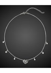 SIN BY MANNEI - Choker ze srebra Coachella. Materiał: srebrne. Kolor: srebrny. Kamień szlachetny: cyrkonia