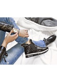 Czarne botki Zapato bez zapięcia, wąskie, na spacer