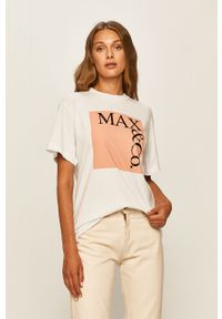 Różowa bluzka MAX&Co. z nadrukiem, na co dzień