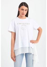 Bluzka TwinSet z krótkim rękawem, krótka
