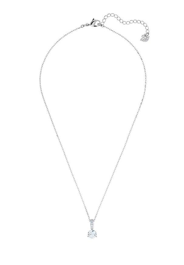 Srebrny naszyjnik Swarovski z aplikacjami, z kryształem