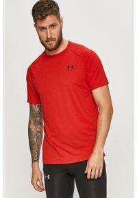 Under Armour - T-shirt. Okazja: na co dzień. Kolor: czerwony. Materiał: tkanina, dzianina. Styl: casual
