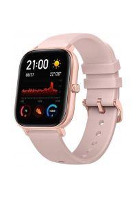 Różowy zegarek AMAZFIT smartwatch, elegancki