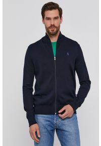 Polo Ralph Lauren - Bluza bawełniana. Okazja: na co dzień. Typ kołnierza: polo. Kolor: niebieski. Materiał: bawełna. Wzór: gładki. Styl: casual