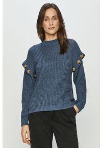 Niebieski sweter Haily's z długim rękawem, długi