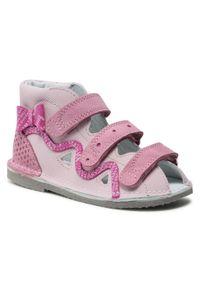 Bartek - Sandały BARTEK - T-16686 Róż. Kolor: różowy. Materiał: skóra, zamsz, materiał