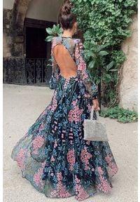 IVET - Sukienka ANRINA. Kolor: wielokolorowy. Materiał: materiał. Wzór: kwiaty. Długość: maxi