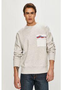 Szara bluza nierozpinana Tommy Jeans bez kaptura, casualowa