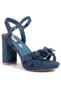 Niebieskie sandały Xti na co dzień, z aplikacjami