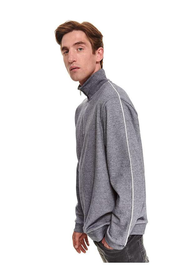 TOP SECRET - Bluza ze stójką. Typ kołnierza: kołnierzyk stójkowy. Kolor: szary