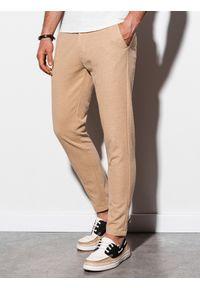 Beżowe spodnie Ombre Clothing eleganckie
