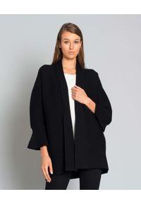 LES COPAINS - Sweter z wełny. Okazja: na co dzień. Kolor: czarny. Materiał: wełna. Długość: długie. Styl: elegancki, klasyczny, casual