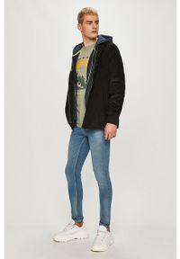 Niebieska bluza rozpinana Fat Moose z kapturem, casualowa, gładkie #6