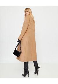 OFF-WHITE - Wełniany płaszcz w kolorze nude. Kolor: beżowy. Materiał: wełna. Wzór: aplikacja. Styl: elegancki, sportowy #8