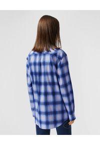 Burberry - BURBERRY - Niebieska koszula z nadrukiem. Kolor: niebieski. Materiał: bawełna. Długość rękawa: długi rękaw. Długość: długie. Wzór: nadruk. Styl: klasyczny