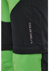 Viking - Spodnie. Okazja: na co dzień. Kolor: zielony. Materiał: materiał. Styl: casual