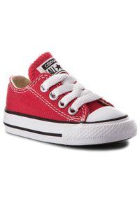 Czerwone półbuty Converse z cholewką