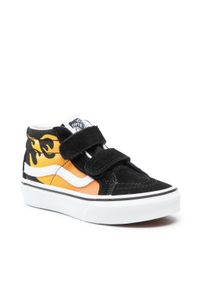 Vans - Sneakersy VANS - Sk8-Mid Reissue V VN00018T99C1 (Hot Flame)Blk/Truewhite. Kolor: czarny. Materiał: zamsz, materiał, skóra
