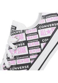 Białe półbuty casual Converse z cholewką, na co dzień