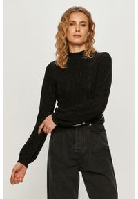 Czarna bluzka TALLY WEIJL długa, z długim rękawem, na co dzień, casualowa