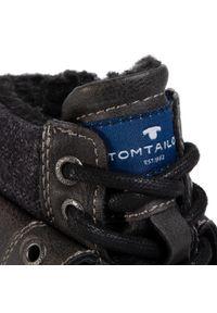 Szare buty zimowe Tom Tailor z cholewką