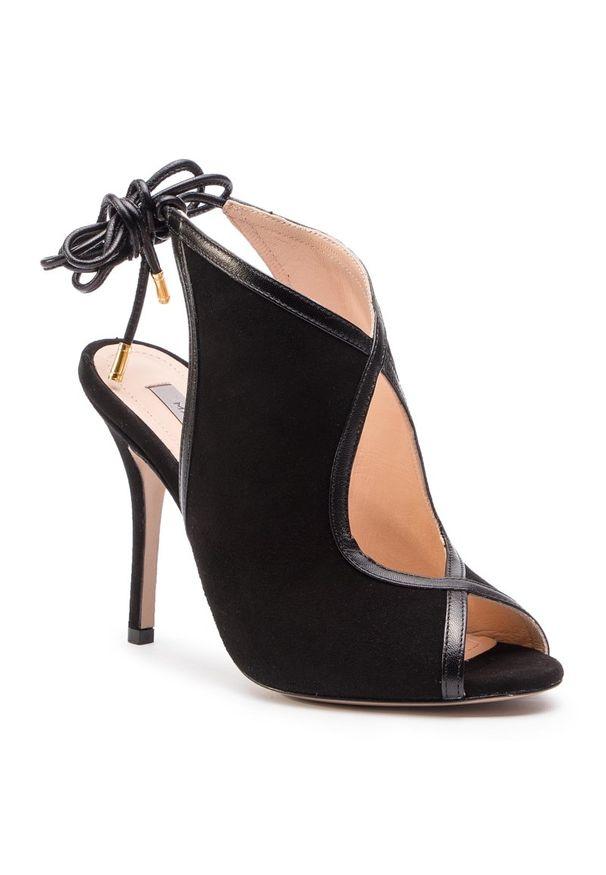 Czarne sandały Marella