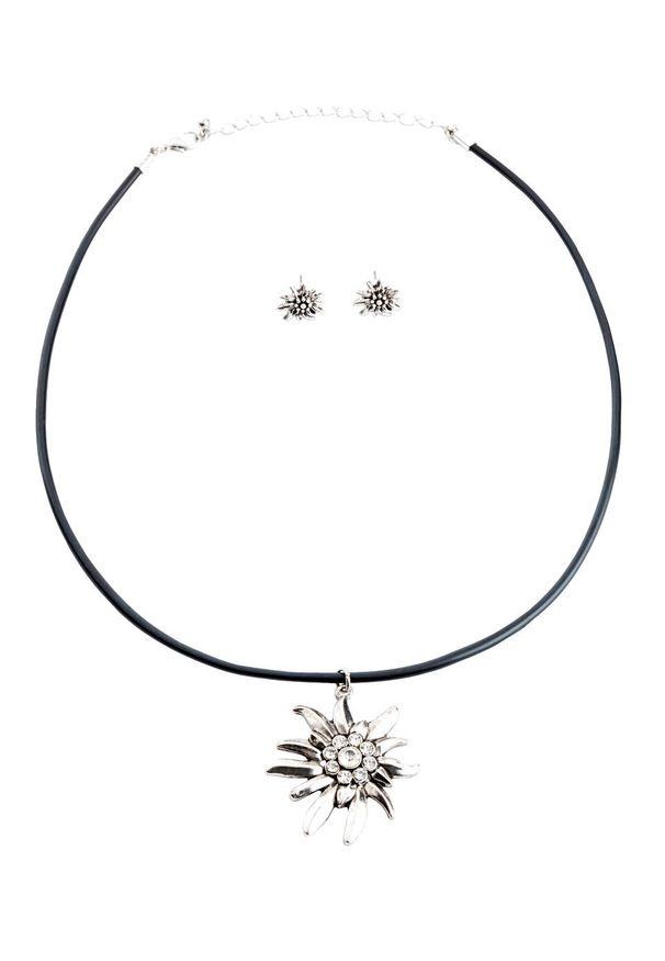 Komplet 3-częściowy biżuterii bonprix srebrny kolor
