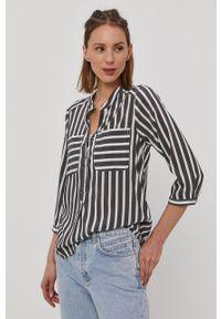 Szara bluzka Vero Moda krótka, na co dzień, casualowa