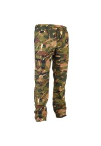 SOLOGNAC - Spodnie myśliwskie 100 CAMO woodland V1. Materiał: bawełna, materiał, poliester