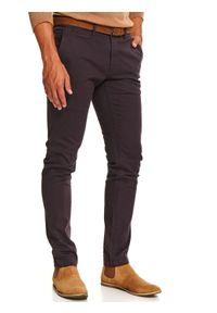 Brązowe spodnie TOP SECRET długie