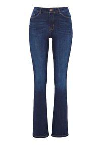 Happy Holly Dżinsy bootcut z wysokim stanem Francis dark denim female niebieski 52R. Stan: podwyższony. Kolor: niebieski. Materiał: denim. Styl: klasyczny