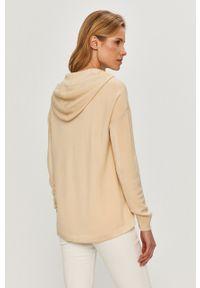 Beżowy sweter DKNY na co dzień, casualowy, gładki