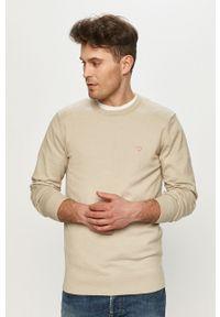 Guess - Sweter. Kolor: szary. Długość rękawa: długi rękaw. Długość: długie