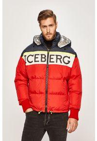Czerwona kurtka Iceberg casualowa, na co dzień, z kapturem