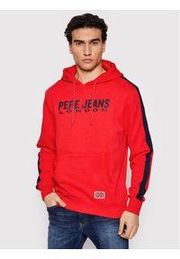 Pepe Jeans Bluza Andre PM582003 Czerwony Regular Fit. Kolor: czerwony